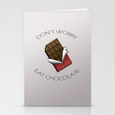 Don't worry, eat chocolate Stationery Cards