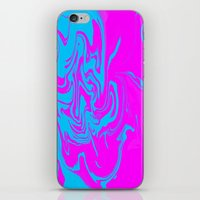 Blue and pink swirls  iPhone & iPod Skin