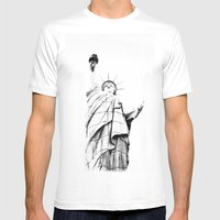 Lady L. Mens Fitted Tee White SMALL