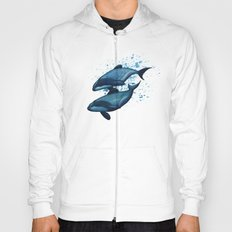 Maui's Dolphins ~ Watercolor Hoody