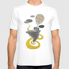 The Wizard of Up SMALL White Mens Fitted Tee
