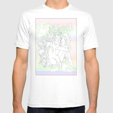 garden & antlers White SMALL Mens Fitted Tee