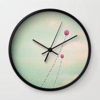 Whimsical Balloons Wall Clock