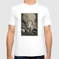 Skull In Scrapyard Mens Fitted Tee White SMALL