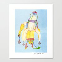 Banana Peeler Canvas Print