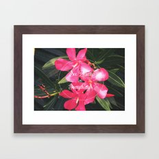 Pink with Words Framed Art Print