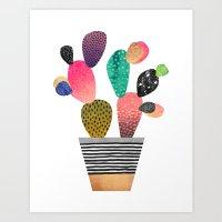 Happy Cactus Art Print