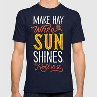 Sunshine Mens Fitted Tee Navy SMALL