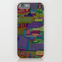 iPhone & iPod Case featuring Cityscape night by Glen Gould
