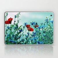 Cornflowers, poppies and chamomile in vintage look Laptop & iPad Skin