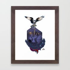 THAT HAWK! Framed Art Print