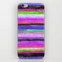 Watercolour Stripe iPhone & iPod Skin