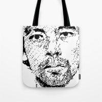 Pixel Portrait : Onra Tote Bag