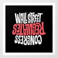 Wall Street Regulates Co… Art Print