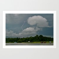 Lightning Strikes Art Print