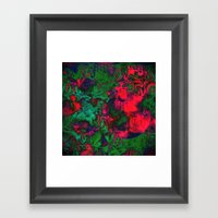 Experimental in Green and Red Framed Art Print