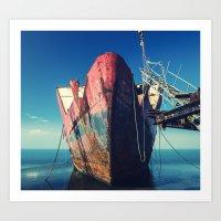 Abandoned Ship Art Print