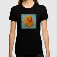 Rubber Duck Womens Fitted Tee Black SMALL