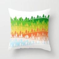 Trees. Throw Pillow