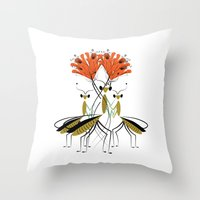The Lily Farmers Throw Pillow