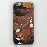 Copper Abstract Liquidit… iPhone & iPod Skin