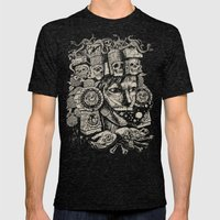 Mictecacihuatl 2 Mens Fitted Tee Tri-Black SMALL