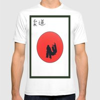 Art Of Judo Print Mens Fitted Tee White SMALL