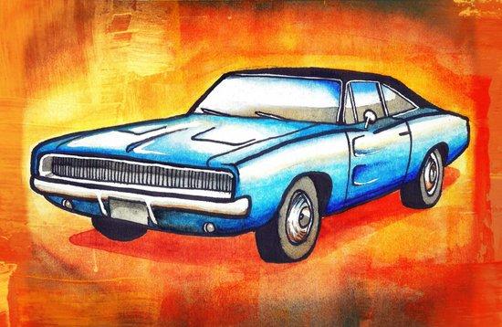 '68 Charger Art Print