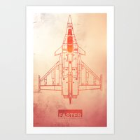 Faster | speed electronic sound Art Print