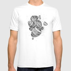 Pebbles SMALL White Mens Fitted Tee