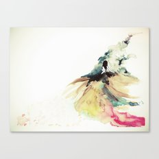 Rainbow dress Canvas Print