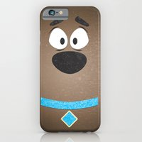 iPhone & iPod Case featuring Minimal Scooby by Shawn P Cowan