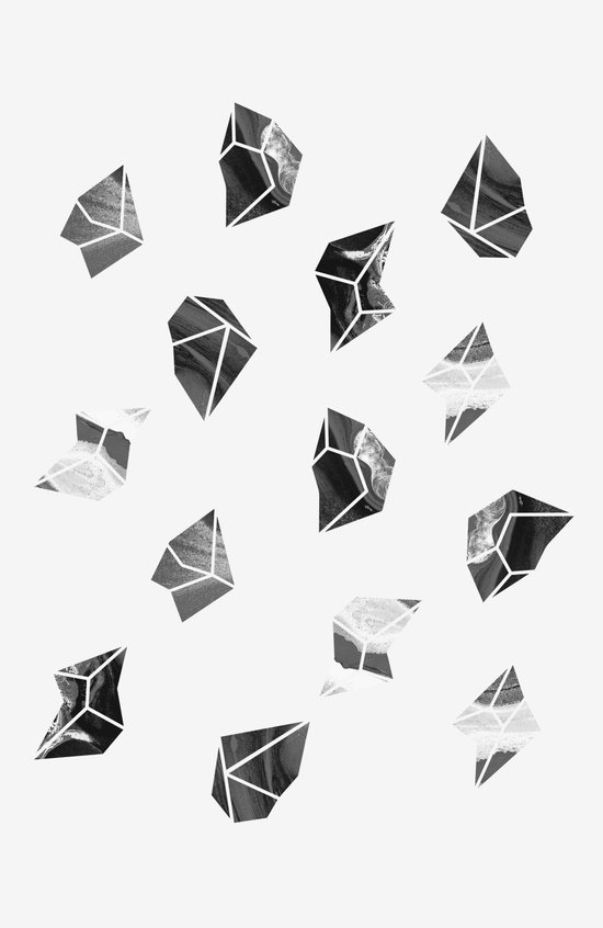 Marble Fragments Art Print