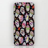 Colorful Sugar Skulls iPhone & iPod Skin