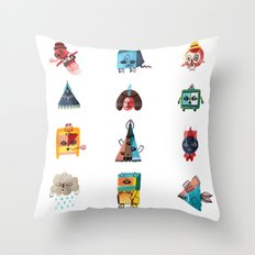 Monster Shapes Throw Pillow