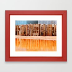 Lobster Traps and Red Sand Framed Art Print