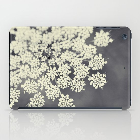 Black and White Queen Annes Lace iPad Case