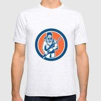 Davy Crockett American F… Mens Fitted Tee Ash Grey SMALL