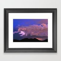 Over Mystic Mountain Framed Art Print