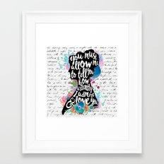 Mr. Darcy - Ardently Adm… Framed Art Print