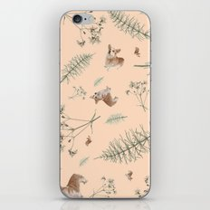 pale pink holiday corgi iPhone & iPod Skin