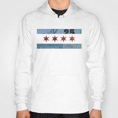 Ephemeral Chicago Flag Hoody