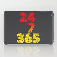 24-7/365 (Red hustle) iPad Case