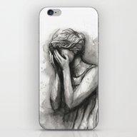 Weeping Angel Watercolor… iPhone & iPod Skin