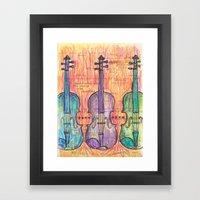 Violin, music to my ears Framed Art Print