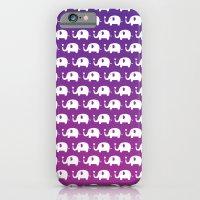 Elephants In Love (Purple) iPhone 6 Slim Case