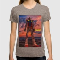 gundam for kids Womens Fitted Tee Tri-Coffee SMALL