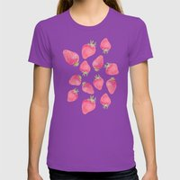 Strawberry  Womens Fitted Tee Ultraviolet SMALL