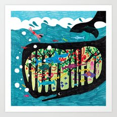 The underwater forest Art Print