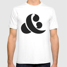 Ampersand White SMALL Mens Fitted Tee